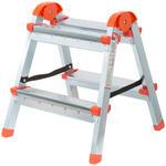 Лестница-стремянка стальная двусторонняя, 4 ступени, Н=88,5 см, вес 5,3 кг
