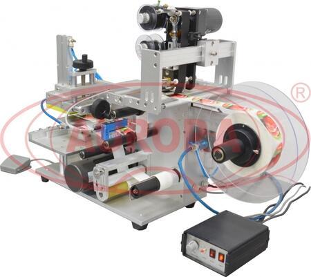 Полуавтоматический этикетировщик для плоских поверхностей с датировщиком АЭ-4М