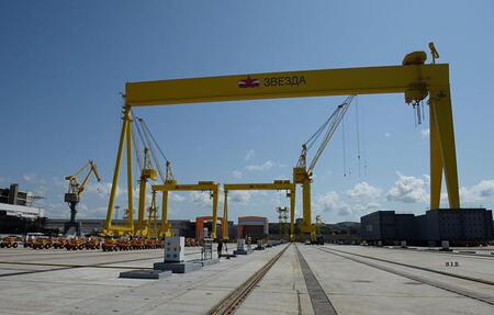 Уралмашзавод приступил к отгрузке тяжелых кранов для судостроительного комплекса «Звезда»